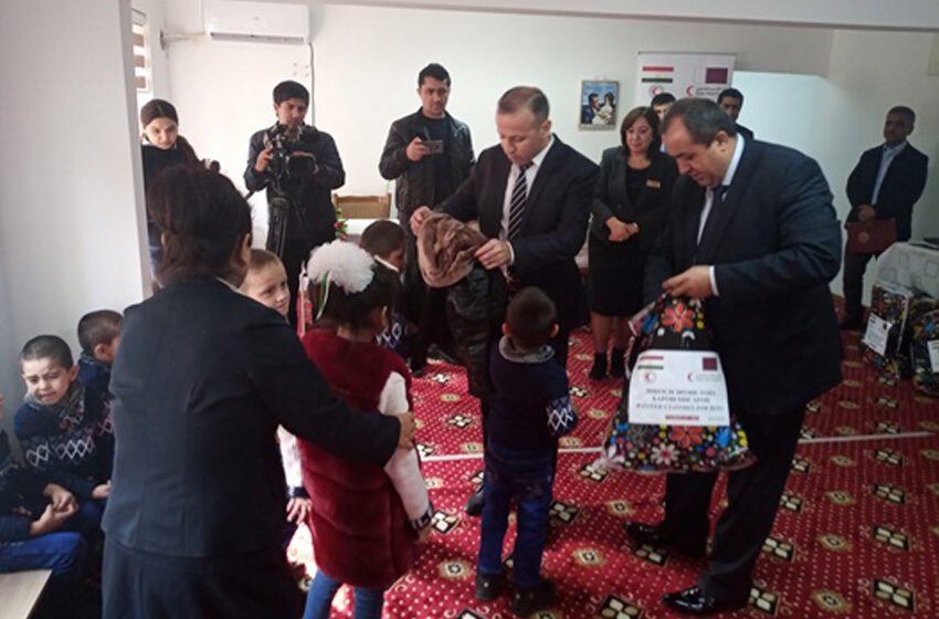 Help the Tajik Red Crescent Society to the orphanage and boarding school in Dushanbe